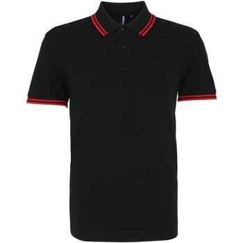 Abbigliamento Uomo Polo maniche corte Asquith & Fox AQ011 Nero/Rosso