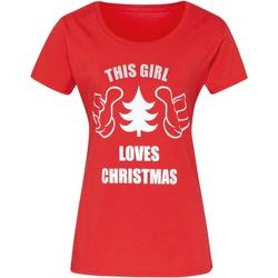 Abbigliamento Donna T-shirt maniche corte Christmas Shop CJ212 Rosso