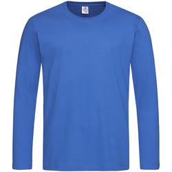 Abbigliamento Uomo T-shirts a maniche lunghe Stedman  Blu reale acceso