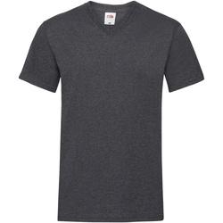 Abbigliamento Uomo T-shirt maniche corte Fruit Of The Loom 61066 Erica scuro