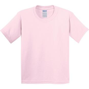 Abbigliamento Unisex bambino T-shirt maniche corte Gildan 64000B Rosa chiaro
