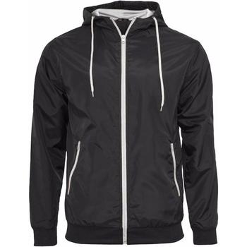 Abbigliamento Uomo giacca a vento Build Your Brand Wind Runner Nero/Bianco
