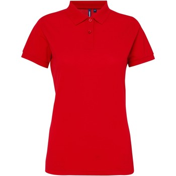 Abbigliamento Donna Polo maniche corte Asquith & Fox AQ025 Rosso ciliegia