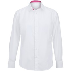 Abbigliamento Uomo Camicie maniche lunghe Alexandra Hospitality Bianco/Rosa