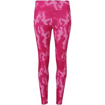 Abbigliamento Donna Leggings Tridri TR032 Mimetico/Rosa