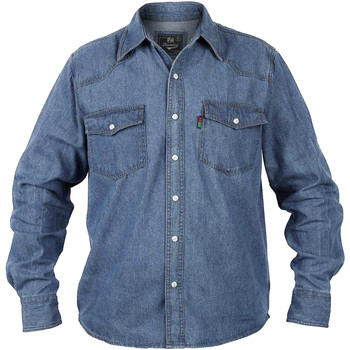 Abbigliamento Uomo Camicie maniche lunghe Duke Western Blu