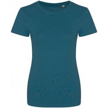 Abbigliamento Donna T-shirt maniche corte Ecologie EA01F Azzurro intenso