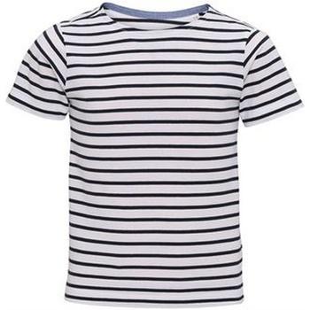 Abbigliamento Unisex bambino T-shirt maniche corte Asquith & Fox  Bianco/Blu navy