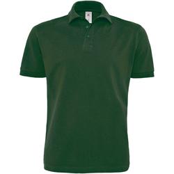 Abbigliamento Uomo Polo maniche corte B And C PU422 Verde bottiglia