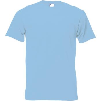 Abbigliamento Uomo T-shirt maniche corte Universal Textiles 61082 Azzurro