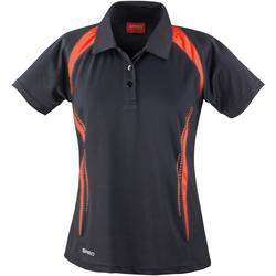 Abbigliamento Donna Polo maniche corte Spiro S177F Nero/Rosso