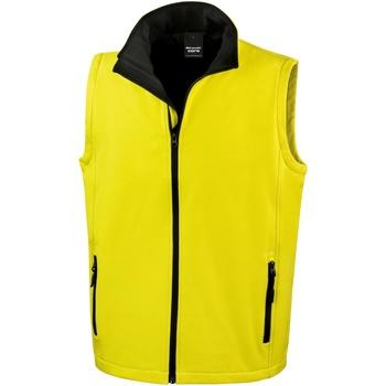 Abbigliamento Uomo Gilet / Cardigan Result R232M Giallo/Nero