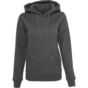 Abbigliamento Donna Felpe Build Your Brand BY026 Carbone