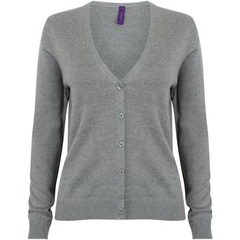Abbigliamento Donna Gilet / Cardigan Henbury HB726 Grigio screziato