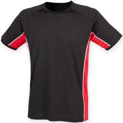 Abbigliamento Unisex bambino T-shirt maniche corte Finden & Hales LV242 Nero/Rosso/Bianco