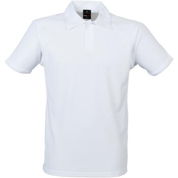 Abbigliamento Uomo Polo maniche corte Finden & Hales Piped Bianco/Bianco