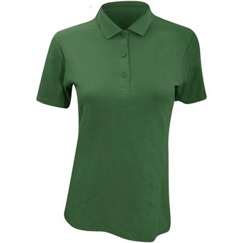 Abbigliamento Donna Polo maniche corte Anvil 6280L Verde foresta