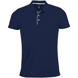 Abbigliamento Uomo Polo maniche corte Sols 01180 Blu navy