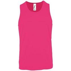 Abbigliamento Uomo Top / T-shirt senza maniche Sols 2073 Rosa neon