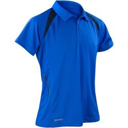 Abbigliamento Uomo Polo maniche corte Spiro S177M Blu reale/Blu navy