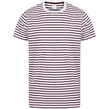 Abbigliamento T-shirt maniche corte Skinni Fit SF202 Bianco/Bordeaux