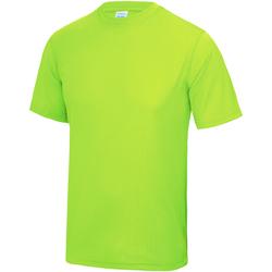 Abbigliamento Unisex bambino T-shirt maniche corte Awdis JC01J Verde elettrico