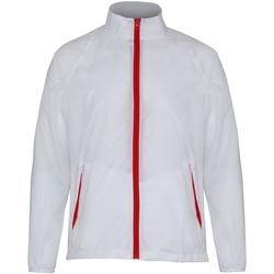 Abbigliamento Uomo giacca a vento 2786  Bianco/Rosso