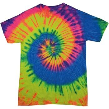 Abbigliamento Donna T-shirt maniche corte Colortone Rainbow Arcobaleno fluo