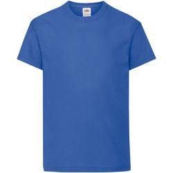 Abbigliamento Unisex bambino T-shirt maniche corte Fruit Of The Loom 61019 Blu reale