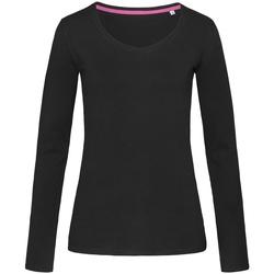 Abbigliamento Donna T-shirts a maniche lunghe Stedman Stars  Nero