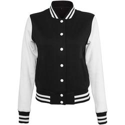 Abbigliamento Donna Giubbotti Build Your Brand BY027 Nero/Bianco