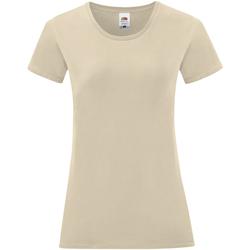 Abbigliamento Donna T-shirt maniche corte Fruit Of The Loom 61432 Naturale