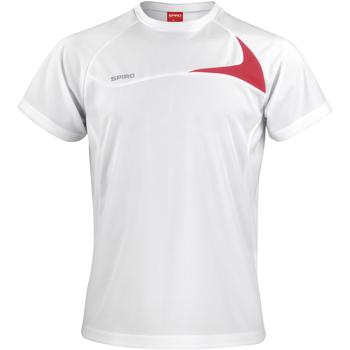 Abbigliamento Uomo T-shirt maniche corte Spiro S182M Bianco/Rosso