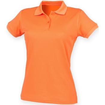 Abbigliamento Donna Polo maniche corte Henbury Coolplus Arancione Bruciato