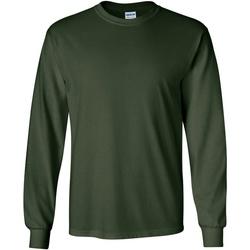 Abbigliamento Uomo T-shirts a maniche lunghe Gildan 2400 Verde foresta