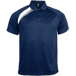 Abbigliamento Uomo Polo maniche corte Kariban Proact PA457 Blu Navy/Bianco/Grigio Tempest