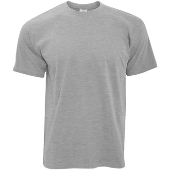 Abbigliamento Uomo T-shirt maniche corte B And C TU004 Grigio Sport