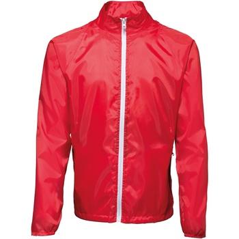 Abbigliamento Uomo giacca a vento 2786  Rosso/Bianco