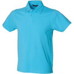 Abbigliamento Uomo Polo maniche corte Skinni Fit SFM42 Azzurro mare