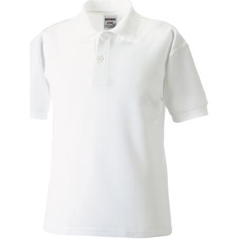 Abbigliamento Bambino Polo maniche corte Jerzees Schoolgear 539B Bianco