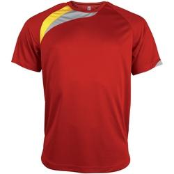 Abbigliamento Uomo T-shirt maniche corte Kariban Proact PA436 Rosso/Nero/Grigio