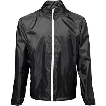 Abbigliamento Uomo giacca a vento 2786  Nero/Bianco
