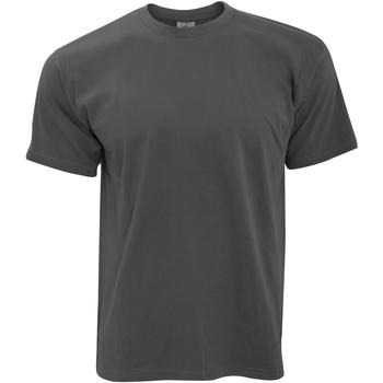 Abbigliamento Uomo T-shirt maniche corte B And C TU004 Grigio scuro