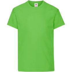 Abbigliamento Unisex bambino T-shirt maniche corte Fruit Of The Loom 61019 Verde lime