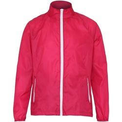 Abbigliamento Uomo giacca a vento 2786 TS011 Rosa/Bianco