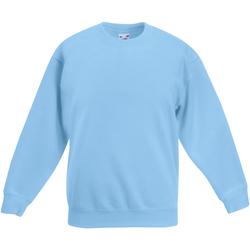 Abbigliamento Unisex bambino Felpe Fruit Of The Loom Classic Azzurro