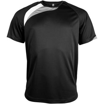 Abbigliamento Uomo T-shirt maniche corte Kariban Proact PA436 Nero/Bianco/Grigio