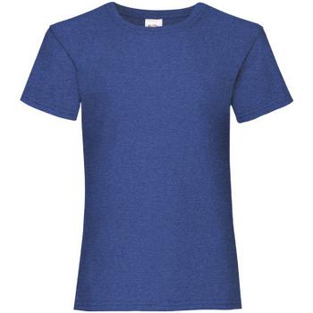 Abbigliamento Bambina T-shirt maniche corte Fruit Of The Loom 61005 Blu scuro