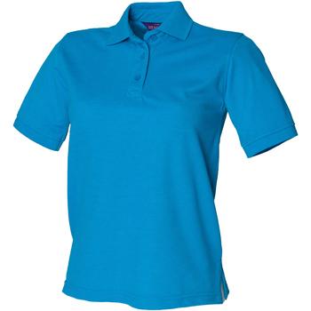 Abbigliamento Donna Polo maniche corte Henbury HB401 Blu zaffiro