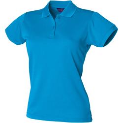 Abbigliamento Donna Polo maniche corte Henbury Coolplus Blu Zaffiro